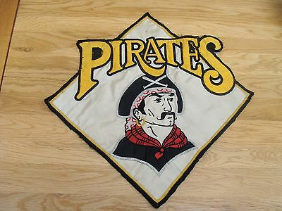 "Vintage  PITTSBURGH PIRATES Major League Baseball Embroidered Logo 10"" x 10"""