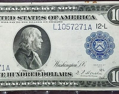 Fr 1130 1914 $100 Federal Reserve Note VF-XF
