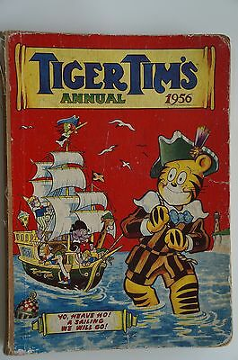 Vintage Tiger Tim's Annual 1956 - Acceptable Condition - 61 Years Old