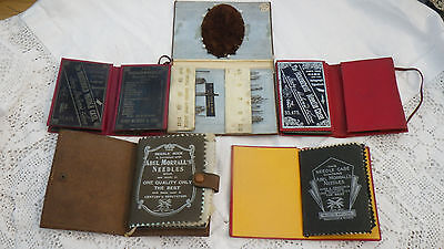 Five Antique Sewing Box Needle Cases Flora Macdonald Abel Morrall's 1887 Etui