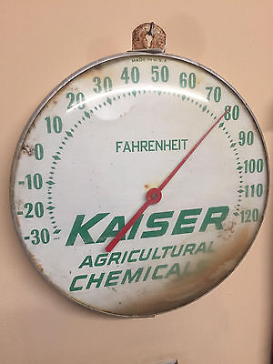 Vintage Kaiser Chemical Thermometer Advertising Sign Collectible Antique
