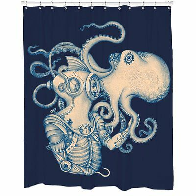 Pirate Bathroom Decor Diver And Octopus Shower Curtain Steampunk Modcloth Kr