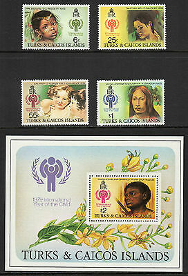 TURKS & CAICOS - 1979, International Year of the Child, Set & Mini-Sheet, MNH