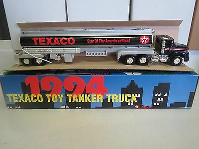TEXACO 1994 TANKER with Black Cab Bottom - PLASTIC- No. 1 IN SERIES