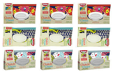Huggies Clutch n Clean Wipes (32 ct) Refillable - Lot of 9 Brand New in Box!