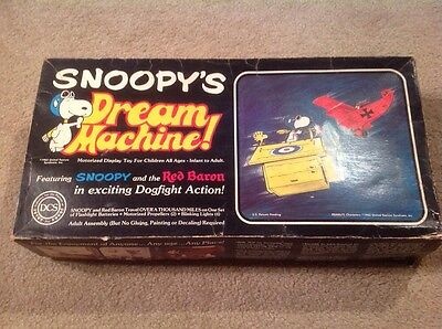 Vintage 1965 Snoopy Dream Machine Complete In Box Rare Item