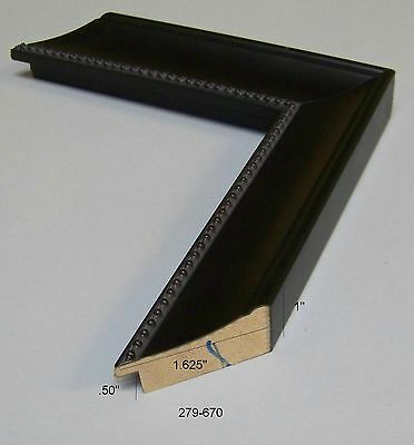 Black scoop w/ bead accent NEW Modern PICTURE FRAME mouldings