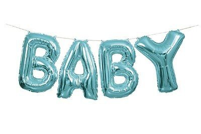 Baby Shower Boy Blue Party Decorations Large Balloon Banner Kit Air Fill Only