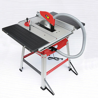 "MT8 1800W Table Saw 110V 10"" Blade Stand Sliding Extension Bench Top Woodworking"