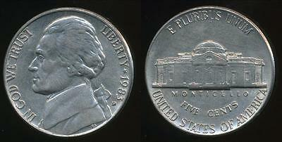 United States, 1983-D 5 Cents, Jefferson Nickel - Extra Fine