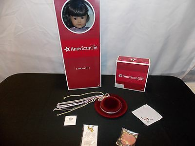 American Girl SAMANTHA Doll, Book & Hat with Accessories, Retired, NIB, Mint