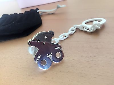 Tous Silver Baby pacifier Holder Clip