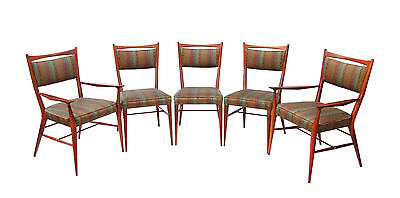 """Set of 5 Paul McCobb """"Connoisseur"""" Collection Dining Chairs H. Sacks & Sons 50's"""