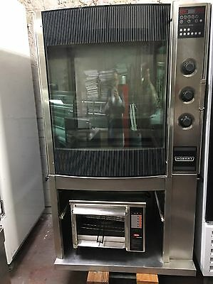 Hobart Commercial Chicken Rotisserie Machine HR-7 with Full Rack/Spit