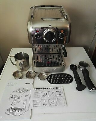 Dualit Dcm2 Ground Coffee Machine Maker & Milk Frother Fully Working With Extras