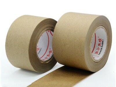 Gummed Kraft Brown Paper Tape Bundled Sealed Water Activated - 30M