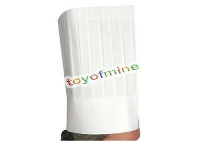 "12"" White Chef Hat Catering Hats Food Serving Disposable paper New"
