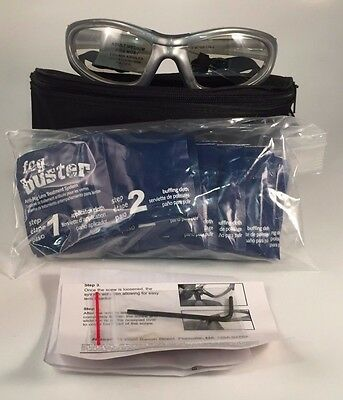 LEADER T-Zone Medium Silver Rxable Protective Eyewear Sport Goggles Glasses 55mm