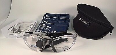 LEADER T-Zone Large Clear Black Rxable Protective Eyewear Sport Goggles Glasses