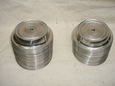 """Lot Of 25 Pieces  10"""" PLATE COVER STAINLESS STEEL Will Cover 9.5""""  + Plate"""