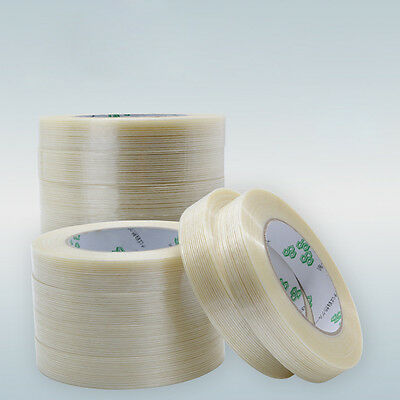 25m & 50m - EXTRA STRONG Clear Fiberglass Reinforced Strapping Filament Tape
