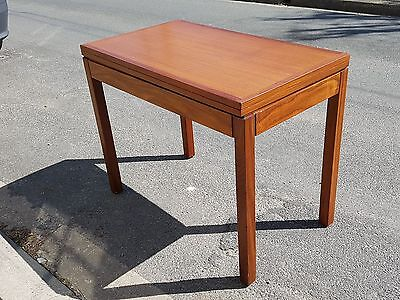 Table A Games Or Meals Transformable Scandinavian Teak 1960 Vintage Danish