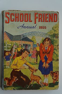 Vintage School Friend Annual 1955 - Good Condition - 62 Years Old