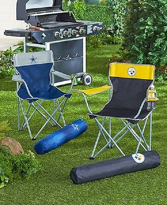 NFL Kickoff Chairs Game Time Tailgaters Camping Outdoors Relaxation