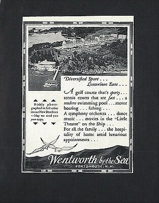 1919 Paper Ad for the WENTWORTH by-the-Sea ~ Portsmouth, N.H. ~ Aerial View