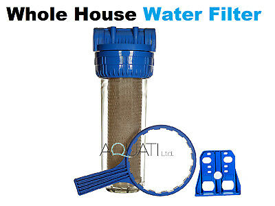 "High Flow Whole House Water Filter Dechlorinator Chlorine Removal 3/4""BSP Aquati"