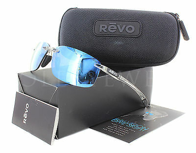NEW Revo Descend N 4059 09 BL Crystal / Blue Sunglasses