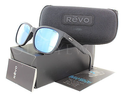 81483ee83d9 NEW REVO 1019 01 BL Holsby Black Woodrain   Blue Water Sunglasses ...