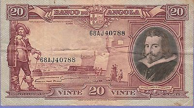 Angola-Portuguese, 20 Angolares Banknote,1.3.1951 Very Fine Condition Cat#83-788