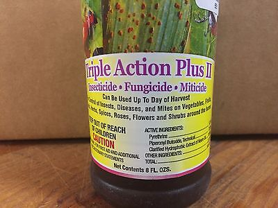 ferti-lome Triple Action Plus II - Insecticide Fungicide Miticide - 8 fl. oz.