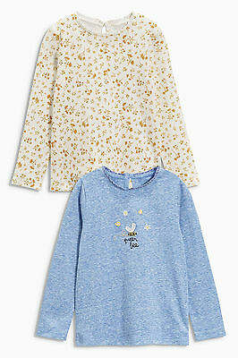 BNWT Next Baby Girls Bee Floral Long Sleeve Top Set 1.5-2 years 18-24 months
