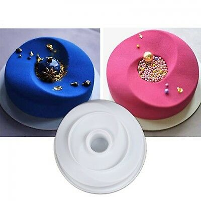 3D Wave Flexible Silicone Non-Stick Cake Mold Chiffon Moulds Pan Mousse Brownie