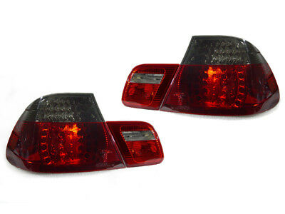 DEPO M3 Red/Smoke LED Rear 4PCS Tail Lights For 2000-2003 BMW E46 2 Door Coupe