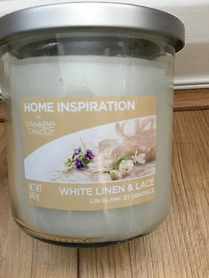 Yankee Candle Home Inspiration White Linen And Lace 340G Two Wick Candles