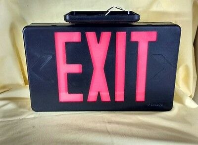 LED Emergency Exit Sign Lithonia Lighting LQM S 1 R With Mount NOS