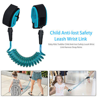 Anti-lost Safety Leash Wrist Link Harness Strap Reins For Toddler Baby Kids