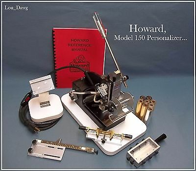 Howard Machine (Model 150 Personalizer & Accessories) Hot Foil Stamping Machine