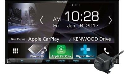 Kenwood DDX-9017DABS Car Multimedia + CMOS-130 Reverse Cam with GEN KENWOOD WARR