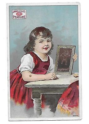 James Pyle's Pearline Washing Compound Soap  Victorian Trade Card