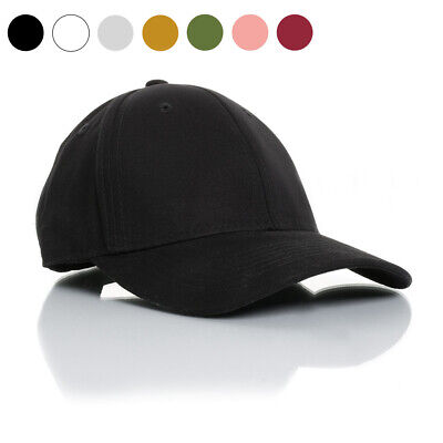 New Adjustable Plain Blank Baseball Caps Curved Quality Unisex Pure Color Hats