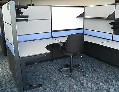 "Teknion TOS Cubicles 8' x 8' Cubicle 67"" High"