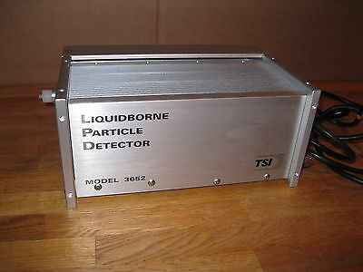 TSI Liquid Borne Particle Detector Aluminum Model 3652 IBM powers up