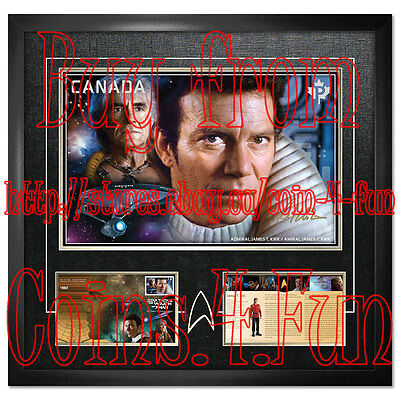 2017 Canada Star Trek Admiral Kirk - Framed Print hand-signed by William Shatner