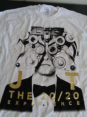 Justin Timberlake 20/20 Experience World Tour LARGE Concert T Shirt FREE SHIP