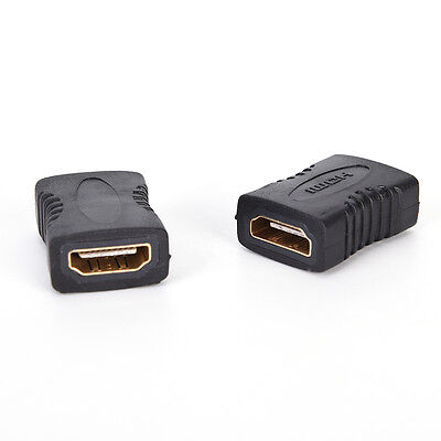 2PCS New HDMI Female to Female Coupler Extender Adapter Connector for HDTV HDCP