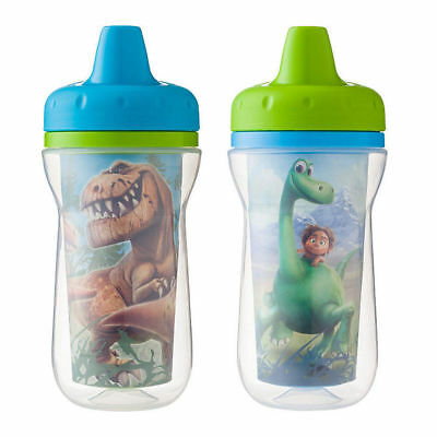 2PK Disney The Good Dinosaur Insulated Sippy Cups Toddler/Child BPA Free 266ml